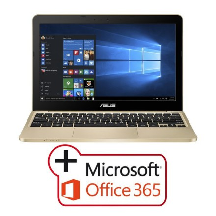 "Ntb Asus VivoBook E200HA-FD0081TS x5-Z8350, 4GB, 32GB, 11.6"""", HD, bez mechaniky, Intel HD, BT, CAM, W10 - zlatý"