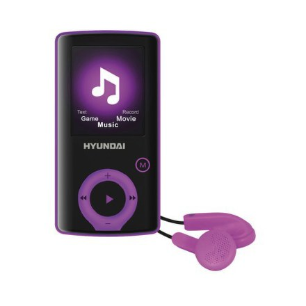 Přehrávač MP3/MP4 Hyundai MPC 883 FM, 8GB, černý/ fialový