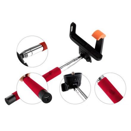 Selfie tyč GoGEN 2 teleskopická, bluetooth, červená