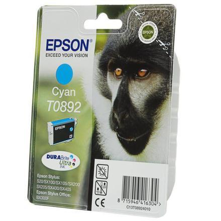 Inkoustová náplň Epson T0892, 170 stran originální - modrá