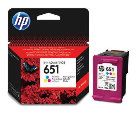 Inkoustová náplň HP 651, C2P11AE originální