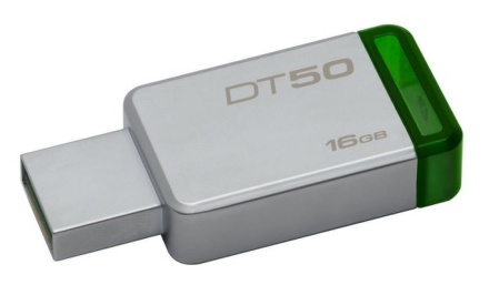 USB Kingston DataTraveler 50 16GB USB 3.0 - zelený/kovový