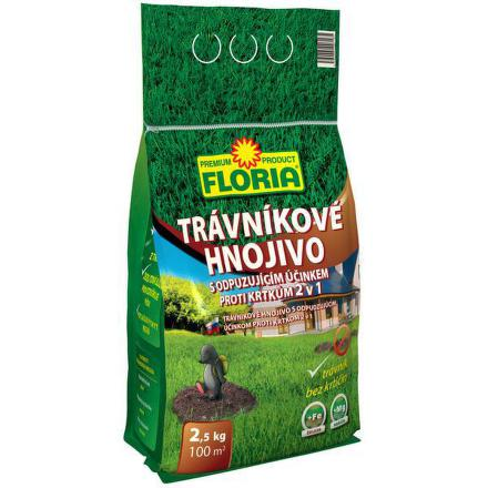 Hnojivo Agro FLORIA s odpuzujícím účinkem proti krtkům 2,5kg