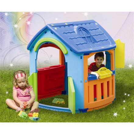 Dětský domeček Marian Plast s kuchyňkou a dílnou