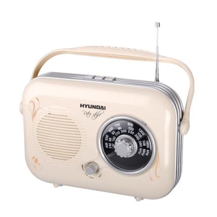 Radiopřijímač Hyundai PR 100B Retro, béžová