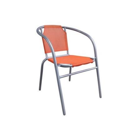 Židle zahradní Happy Green 5032012O ocelové textilen - oranžové