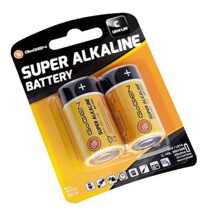Baterie alkalická GoGEN SUPER ALKALINE C, LR14, blistr 2ks