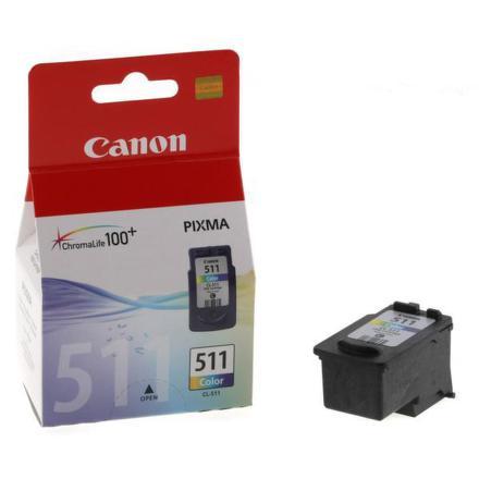 Inkoustová náplň Canon CL-511C, 240 stran originální - červená/modrá/žlutá