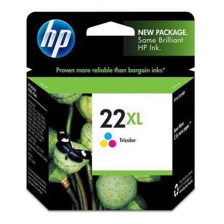 Inkoustová náplň HP No. 22XL, 11ml, 415 stran originální - červená/modrá/žlutá