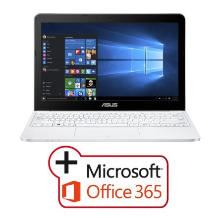 "Ntb Asus VivoBook E200HA-FD0080TS x5-Z8350, 4GB, 32GB, 11.6"""", HD, bez mechaniky, Intel HD, BT, CAM, W10 - bílý"