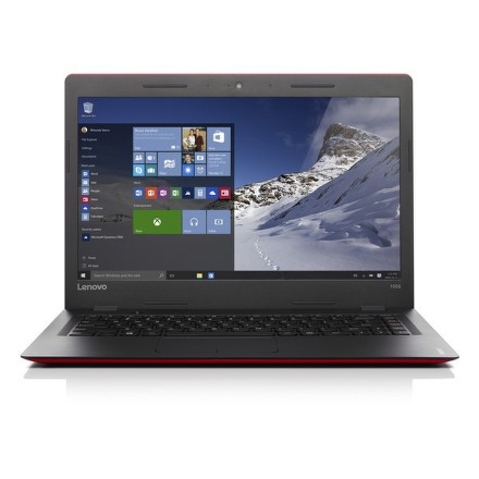 "Ntb Lenovo IdeaPad 100S-14IBR Pentium N3710, 4GB, 32GB, 14"""", HD, bez mechaniky, Intel HD, BT, CAM, W10 - červený"