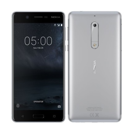 Mobilní telefon Nokia 5 Dual SIM - stříbrný