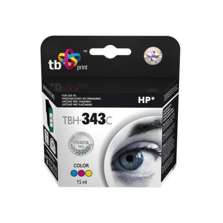 Inkoustová náplň TB HP C8766EE (No.343) Color kompatibilní - červená/modrá/žlutá