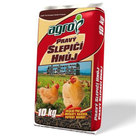 Hnojivo Agro Pravý slepičí hnůj 10 kg