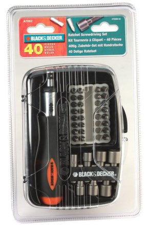 Sada bitů Black&Decker A7062 40 dílná s ráčnou