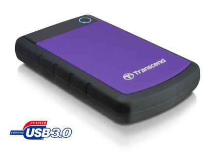 """HDD ext. 2,5"""""""" Transcend StoreJet 25H3P 500GB - černý/fialový"""