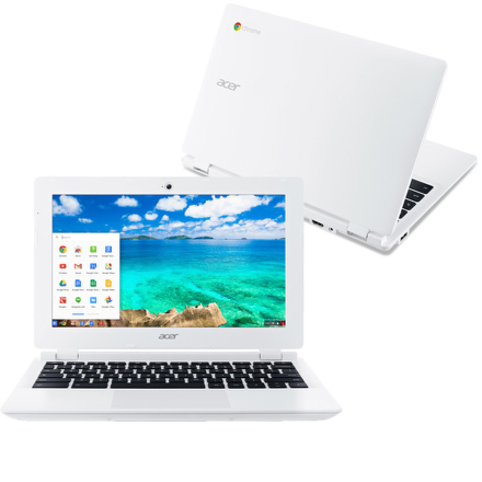 "Ntb Acer Chromebook 11 (CB3-131-C4SZ) Celeron N2840, 2GB, 32GB, 11.6"""", HD, bez mechaniky, Intel HD, BT, CAM, Chrome OS - bílý"