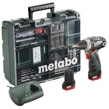 Aku vrtačka Metabo Power Maxx BS Basic MD 2x2Ah