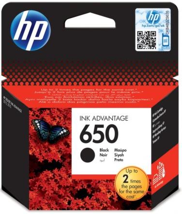 Inkoustová náplň HP No. 650, 360 stran originální - černá
