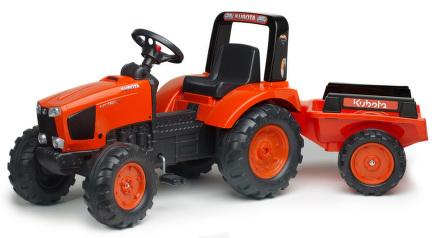 Šlapací traktor FALK Kubota + vlek - plast