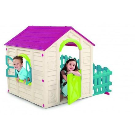 Dětský domeček Keter My Garden House - béžový/vínový