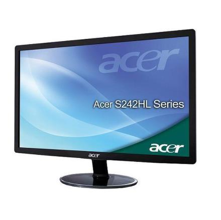 "Monitor Acer S240HLbid 24"""",LED, TN, 5ms, 100000000:1, 250cd/m2, 1920 x 1080,"