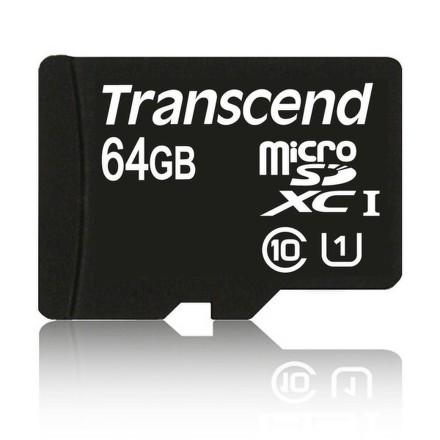 Paměťová karta Transcend MicroSDXC Premium 64GB UHS-I U1 (45MB/s) + adapter