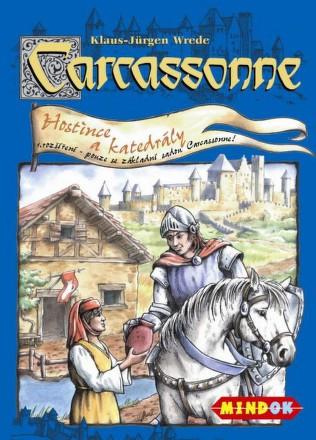Hra Mindok Carcassonne - rozšíření 1 (Hostince a katedrály)