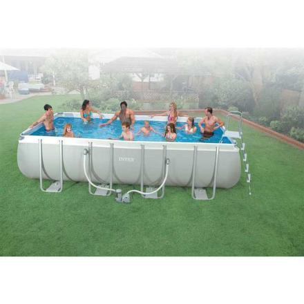 Bazén Intex Frame Set Ultra Quadra I 5,49x2,74x1,32 m včetně kartušové filtrace 5,7 m3/h a příslušenství