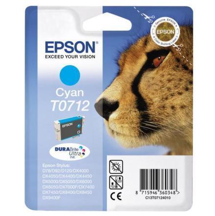 Inkoustová náplň Epson T0712, 375 stran originální - modrá