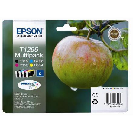 Inkoustová náplň Epson T1295, 32,2ml originální - černá/červená/modrá/žlutá