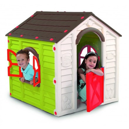Dětský domeček Keter Rancho Playhouse - hnědý/zelený