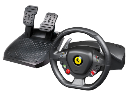 Volant Thrustmaster Ferrari 458 Italia pro PC, Xbox 360 + pedály