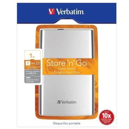 """HDD ext. 2,5"""""""" Verbatim Store ´n´ Go 1TB - stříbrný"""