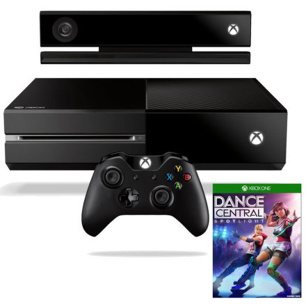 Herní konzole Microsoft Xbox One 500GB Kinect + hra Dance Central Spotlight - černá