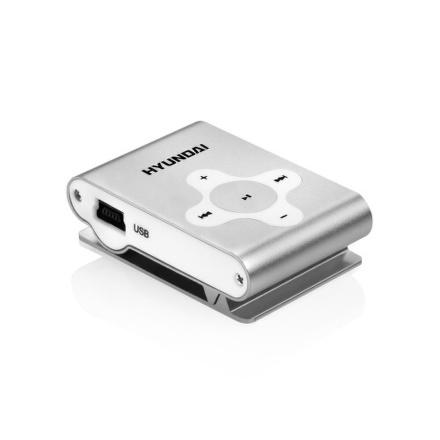 MP3 přehrávač Hyundai MP 212, micro SD slot, stříbrný