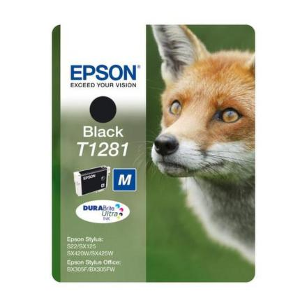 Inkoustová náplň Epson T1281, 5,9ml originální - černá