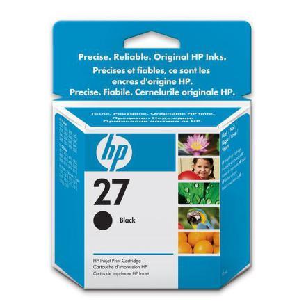 Inkoustová náplň HP No. 27, 10ml originální - černá