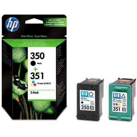 Inkoustová náplň HP No. 350 + 351, 200 stran originální - černá