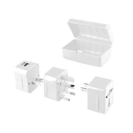 Cestovní adaptér GoGEN pro 150 zemí, 2x USB
