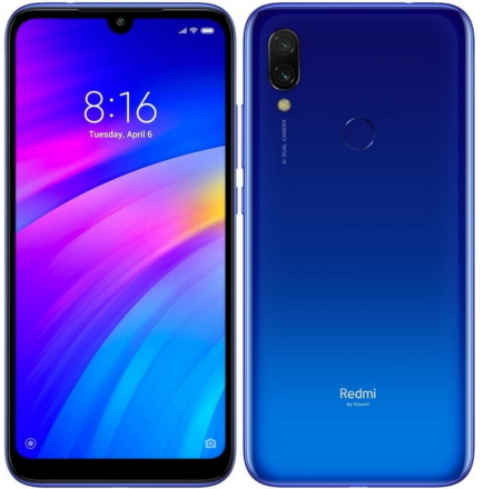 Xiaomi Redmi 7 64 GB Dual SIM - modrý