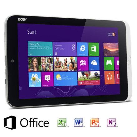 "Dotykový tablet Acer Iconia Tab W3-810 8,1"""", 64 GB, WF, BT, Win 8 - stříbrný"