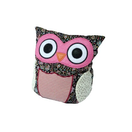 Plyšová hračka ALBI Hooty - sova patchwork růžová
