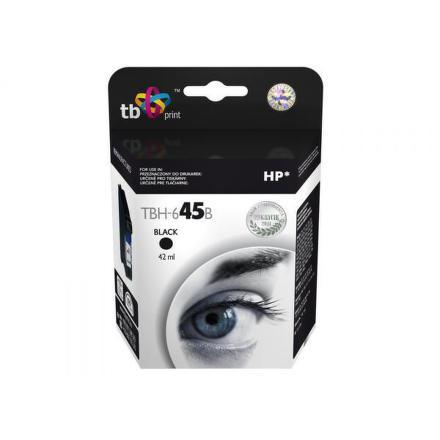 Inkoustová náplň TB HP 51645AE (No.45) Bk kompatibilní - černá