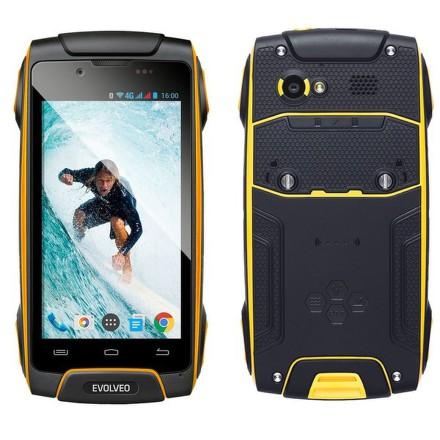 Mobilní telefon Evolveo StrongPhone Q8 LTE - černý/žlutý