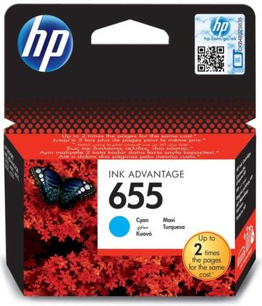 Inkoustová náplň HP No. 655, 600 stran originální - modrá