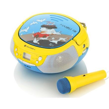 Radiopřijímač GoGEN MAXIPREHRAVAC B s CD/MP3/USB, modrá/žlutá