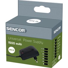 Sencor SPS 15 Zdroj Stab. 1500 mA univerzální