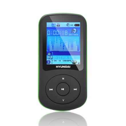 MP3 přehrávač Hyundai MPC 401 FM, 2GB, černý/zelený