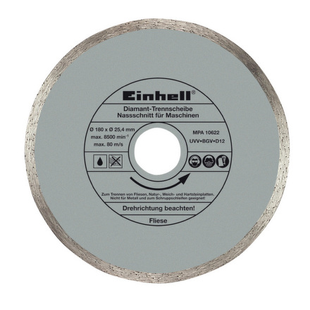 Kotouč diamantový Einhell, 180x25,4x1,6 mm pro řezačku dlaždic BT-TC 600